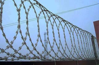 Flat Wrapped Razor Barbed Wire