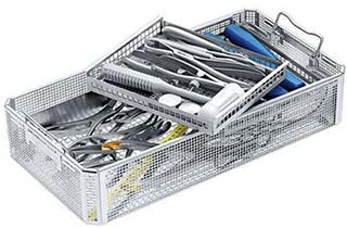 Surgical instrument disinfection baskets