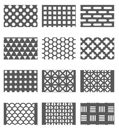 Hole shape for perforated metal product