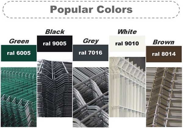 Electric Galvanized, Hot Dipped Galvanized, Polyester Painting,PVC Coated Welded Mesh Fence