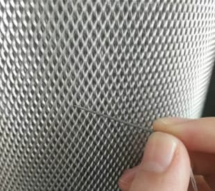 Microporous expanded metal mesh