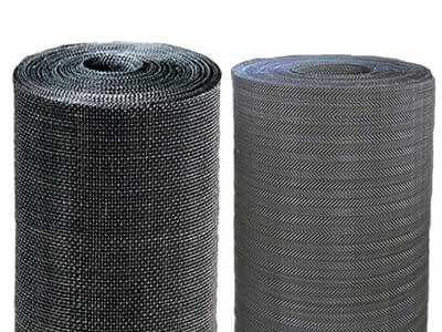 Black Wire Cloth Extruder Screen-black metal mesh screen