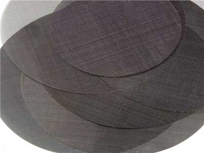 Plain weave black wire cloth extruder screen-iron extruder screen disc