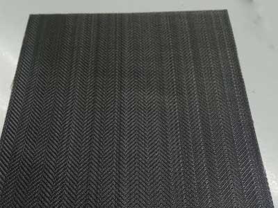 Herringbone weave black wire cloth extruder screen-black wire cloth filter disc