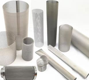 Cylindrical Extruder Screens Made of Stainless Steel Wire Mesh