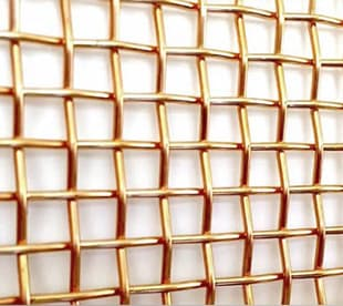 woven brass mesh
